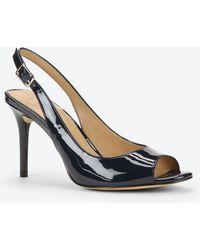 Ann Taylor Clio Patent Leather Peeptoe Heels blue - Lyst