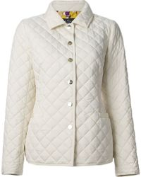 Ferragamo Quilted Effect Jacket - Lyst