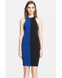 T By Alexander Wang Two Tone Tank - Lyst