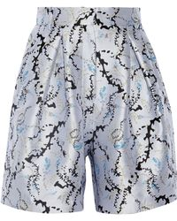 Mary Katrantzou - High-rise Jacquard Shorts - Lyst