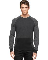 Calvin Klein Diagonal Striped Crew-Neck Sweater - Lyst