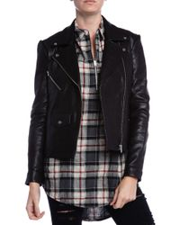VEDA Lazer Moto Leather Jacket - Lyst