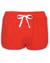 Topshop Sporty Side Step Runner Shorts - Lyst