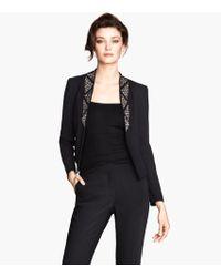 H&M Beaded Jacket - Lyst