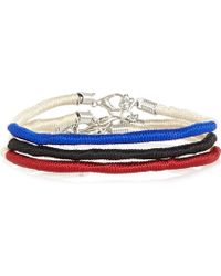 River Island - Mixed Twisted Cord Bracelets Pack - Lyst