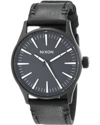 Nixon The Sentry 38 Leather - Lyst