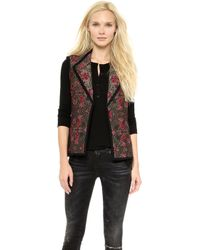 Otte New York Chloe Quilted Vest  Goldpink - Lyst
