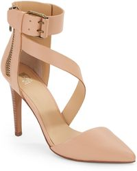 Joe's Jeans Ali Ankle-Strap D'Orsay Leather Pumps - Lyst
