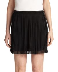 Rebecca Minkoff Hayes Pleated Mini Skirt - Lyst