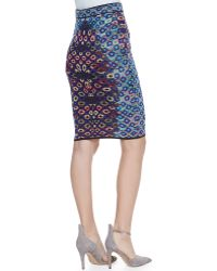 M Missoni Optical Jacquard Pencil Skirt - Lyst