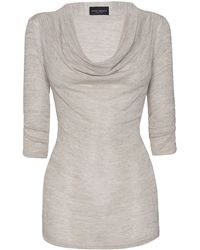 James Lakeland Cowl Neck Tunic - Lyst
