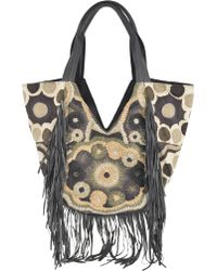 Antik Batik Shopper in Cotone Con Frange - Lyst
