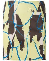 Cedric Charlier Printed Skirt - Lyst