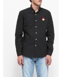 Need Supply Co. Smiley Patch Button Down Shirt green - Lyst