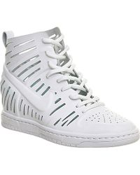 0c82f05db0b5 Nike - Dunk Sky Hi Cut-out Leather Wedge Trainers - For Women - Lyst