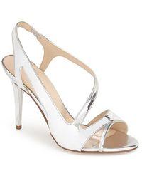 Nine West 'Delvin' Slingback Sandal silver - Lyst