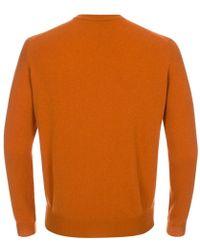 Paul Smith Mens Burnt Orange Cashmere Sweater In Orange For Men Lyst