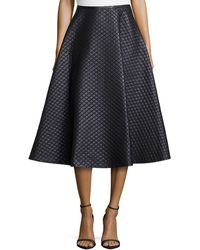 Michael Kors Quilted Bias Circle Skirt - Lyst