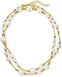 Jose & Maria Barrera Long Simulated Pearl Necklace - Lyst