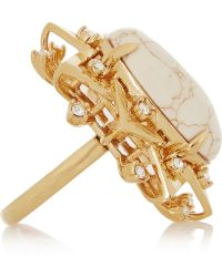 Lele Sadoughi - Sunshine Gold-Plated, Marble And Howlite Ring - Lyst