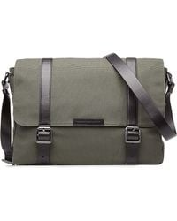 Marc By Marc Jacobs - Cotton Messenger Bag With Leather - Green - Lyst