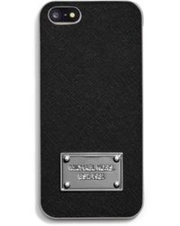 Michael Kors Saffiano Leather Phone Case - Lyst