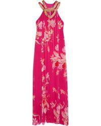 Matthew Williamson Escape Floral-Print Silk Maxi Dress - Lyst