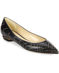 Nicholas Kirkwood Studded Point-toe Leather Flats - Lyst