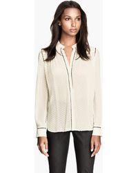 H&M Blouse in A Silk Blend - Lyst