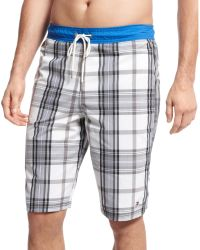 Tommy Hilfiger Clementine Plaid Board Shorts - Lyst