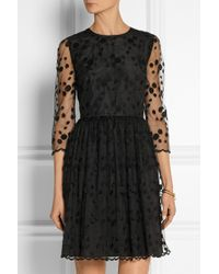 RED Valentino Layered Embroidered Tulle And Crepe Mini Dress - Lyst