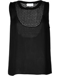 A.L.C. Tank Top with Eyelet Paneling - Lyst