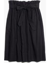 Madewell Paperbag Skirt - Lyst