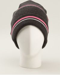 T By Alexander Wang - Striped Beanie - Lyst