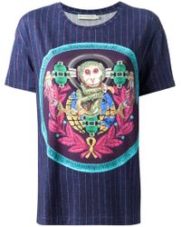 Mary Katrantzou Monkey Badge Tshirt - Lyst