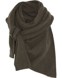 Christophe Lemaire - Asymmetric Yak and Merino Woolblend Scarf - Lyst