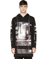 Hood By Air Black Double Layered Zippered Hoodie - Lyst