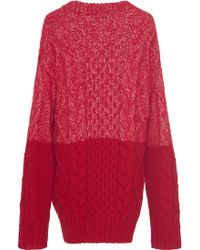 Veronique Branquinho - Wool Mohair Cableknit Pullover - Lyst
