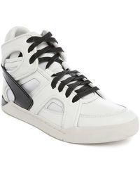 DIESEL | S-titann White High-top Sneakers | Lyst