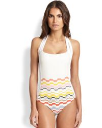 Missoni Mare One-Piece Halter Swimsuit - Lyst