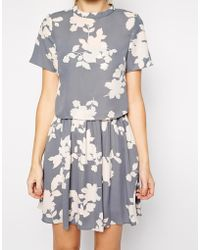 Oasis Shadow Floral 2 In 1 Dress - Lyst