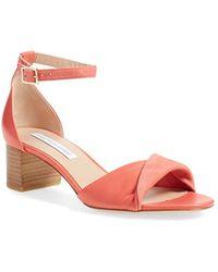 Diane von Furstenberg | Florence Ankle-Strap Sandals | Lyst