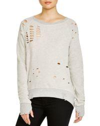 Pam & Gela | Annie High/low Destroyed Sweatshirt | Lyst