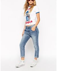 Wildfox Lola Turn Up Jeans - Lyst
