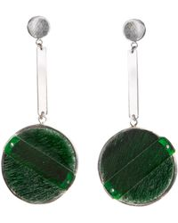 Isabel Englebert - London Short Drop Earrings Silver - Lyst