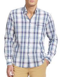 Gant Rugger Vacay Madras Plaid Cotton Sportshirt - Lyst