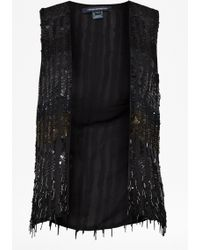 French Connection | Siberian Sequinned Gilet | Lyst