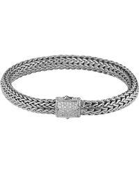 John Hardy Classic Chain 75mm Medium Braided Silver Bracelet - Lyst