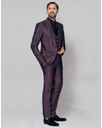 Dolce & Gabbana | Jacquard Silk Suit With Tie Print Motif | Lyst