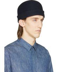 Robert Geller Navy Wool Anton Hat - Lyst